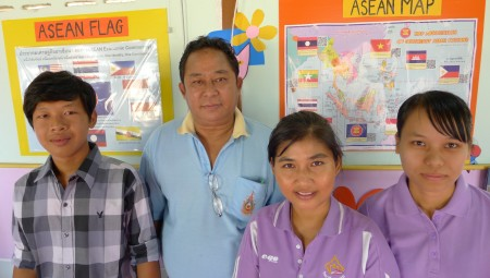 Teachers Aung Kwah Moe, U Htay Hlaing, Ann and Novelim