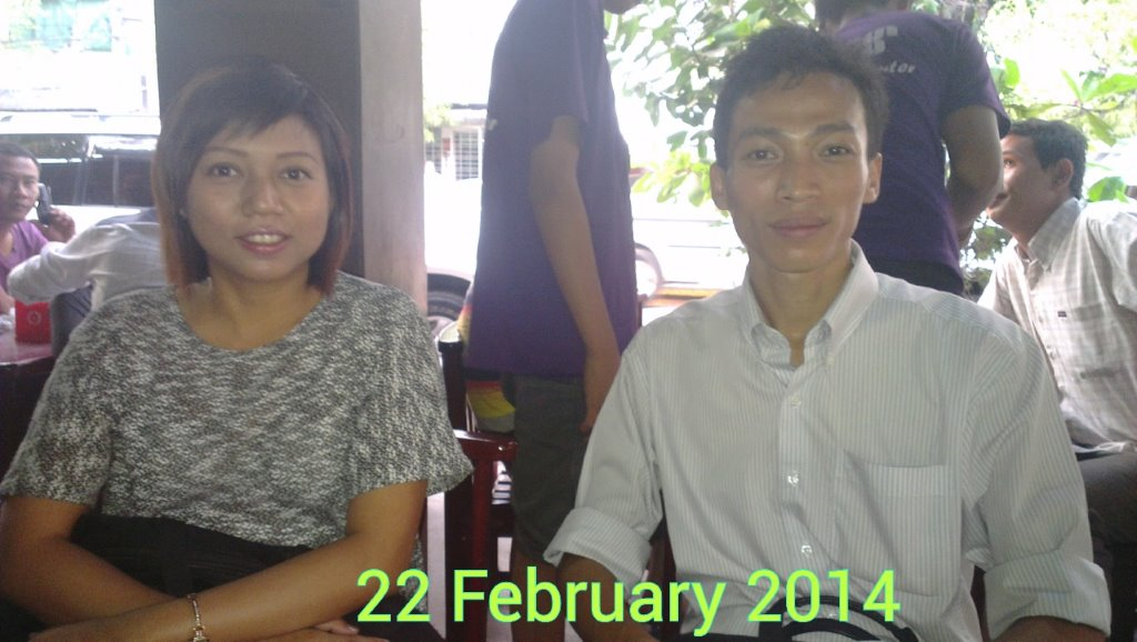 New staff researchers, Yi Yi Linn and Nyan Naing. for UnionAID Myanmar Hotel & Tourism Workers Organising Project.