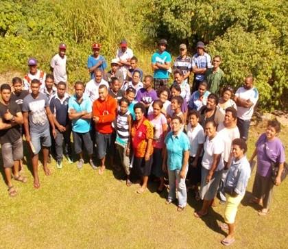 Fiji project workshop participants