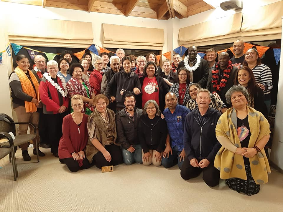 A group photo of attendees at the Living Wage traiing held in Auckland
